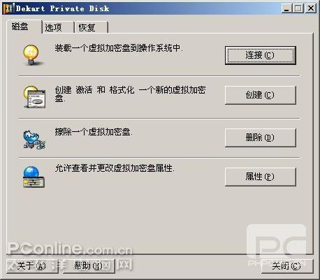 虚拟磁盘也加密 Dekart Private Disk