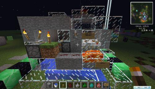 Minecraft利用岩浆和水流杀怪和动物不烧毁掉落物的装置教程