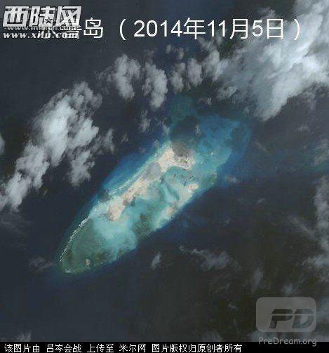 看2014年永暑礁丧心病狂的扩建速度
