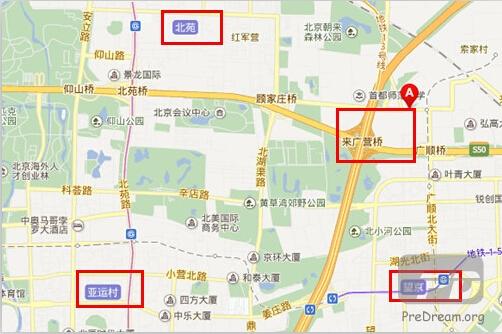 来广营区位突出,可共享望京、北苑、亚奥等大型商圈
